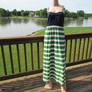 Aeropostale Spaghetti Stripes Long Maxi Dress